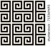 vector seamless pattern. modern ... | Shutterstock .eps vector #715369693