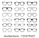 monochrome glasses for sight... | Shutterstock . vector #715379437