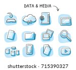 set with file sharing icons  as ... | Shutterstock .eps vector #715390327