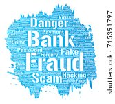 vector conceptual bank fraud... | Shutterstock .eps vector #715391797