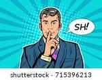 silence mystery secret business ... | Shutterstock .eps vector #715396213