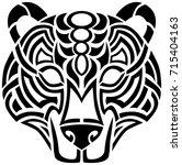 celtic bear tribal design | Shutterstock .eps vector #715404163