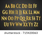 english alphabet  signs and... | Shutterstock .eps vector #715420063
