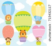 Animals In Hot Air Balloons...