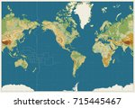 world map americas centered... | Shutterstock .eps vector #715445467