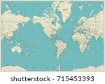 world map americas centered map.... | Shutterstock .eps vector #715453393