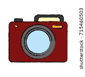 photographic camera icon  | Shutterstock .eps vector #715460503