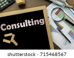 text consulting on the... | Shutterstock . vector #715468567