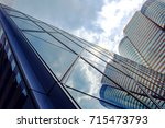 office building in hong kong ... | Shutterstock . vector #715473793