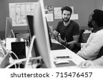 startup business people working ... | Shutterstock . vector #715476457