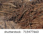 Small photo of Rusted steel wire scrap.Wire rope - heavy duty steel wire cable