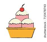 ice cream icon image | Shutterstock .eps vector #715478743