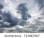 beautiful clouds with blue sky... | Shutterstock . vector #715487467
