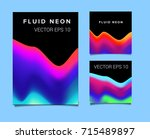 big set of abstract backgrounds.... | Shutterstock .eps vector #715489897