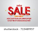 vector of stylized bold font... | Shutterstock .eps vector #715489957