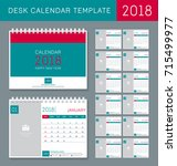 desk calendar template for 2018 ...