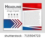 abstract vector layout... | Shutterstock .eps vector #715504723