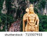 batu caves at kuala lumpur city ... | Shutterstock . vector #715507933