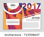abstract vector layout... | Shutterstock .eps vector #715508647