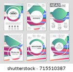 abstract vector layout... | Shutterstock .eps vector #715510387