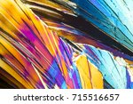 colorful microscopic shot of... | Shutterstock . vector #715516657