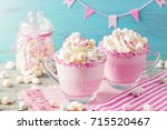 unicorn hot chocolate and...   Shutterstock . vector #715520467
