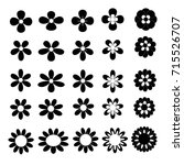 Black Vector Flower Icon...