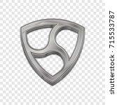 silver nem coin symbol isolated ... | Shutterstock .eps vector #715533787