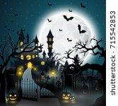vector illustration of creepy... | Shutterstock .eps vector #715542853