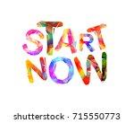 start now. motivation...   Shutterstock .eps vector #715550773