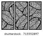 vector set of templates of... | Shutterstock .eps vector #715552897