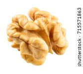 Small photo of Walnut. Walnut kernel. Nut isolated on white. With clipping path.