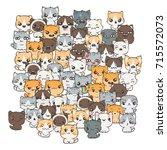 vector pattern for print....   Shutterstock .eps vector #715572073