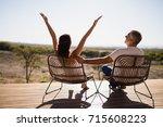 rear view of senior couple... | Shutterstock . vector #715608223