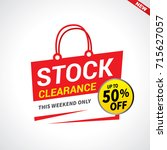 stock clearance bag  50  off... | Shutterstock .eps vector #715627057