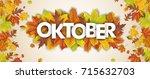 german text oktober  translate... | Shutterstock .eps vector #715632703