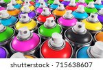 set of color paint cans ... | Shutterstock . vector #715638607