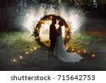 the bride and groom. the night... | Shutterstock . vector #715642753