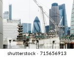 london financial district...   Shutterstock . vector #715656913