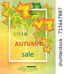 vertical banner for the steam... | Shutterstock .eps vector #715667887