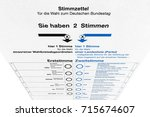 Small photo of Stuttgart, Germany - September 15, 2017: Ballot card paper for federal election / parliamentary elections (for the Bundestag) in Germany.