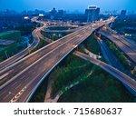 aerial photography bird eye... | Shutterstock . vector #715680637