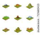 mountains  rocks  lighthouse ... | Shutterstock .eps vector #715682413