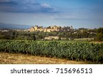carcassonne fortress  ... | Shutterstock . vector #715696513
