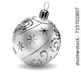 Realistic Silver Christmas Bal...