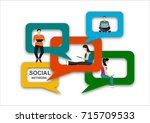 speech bubbles for comment anf...   Shutterstock .eps vector #715709533