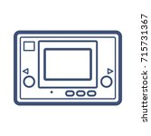 retro pocket game console | Shutterstock .eps vector #715731367