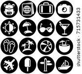 set of simple icons on a theme... | Shutterstock .eps vector #715731433