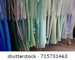 evening gown long dresses on... | Shutterstock . vector #715731463