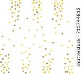 falling golden confetti points. ... | Shutterstock .eps vector #715744813
